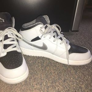Silver and Black Air Force Ones